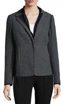 Lafayette 148 New York Long-Sleeve Reversible Jacket, Eclipse Melange