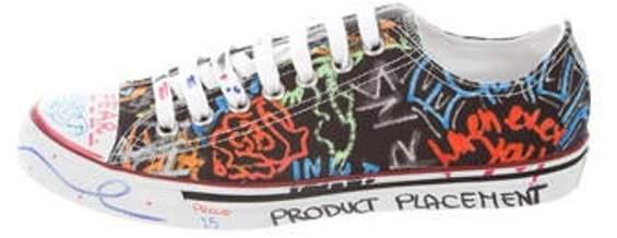 Vetements Graffiti Low-Top Sneakers black Graffiti Low-Top Sneakers