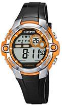 Calypso Unisex Digital Watch with LCD Dial Digital Display and Black Plastic Strap K5617/4