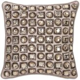 Aura Jewel 12-Inch Square Throw Pillow