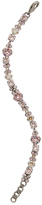 Sorrelli Silvertone & Pink Line Bracelet With Swarovski® Crystals
