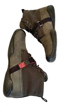 Prada Green Suede Boots