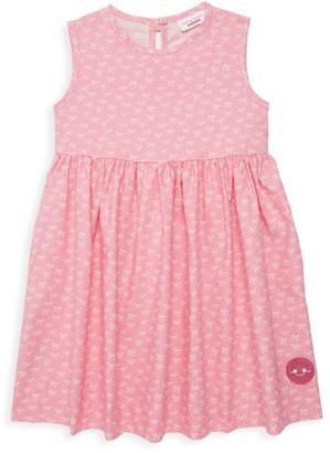 Smiling Button Baby's, Little Girl's & Girl's Ballerina Bow Print Dress