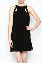 Naked Zebra Black Cutout Dress