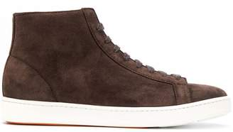 Santoni high-top lace-up sneakers
