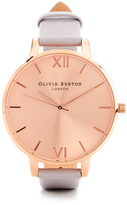 Olivia Burton Women's Big Dial Watch Grey Lilac & Rose Gold