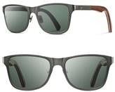 Shwood Men's 'Canby' 54Mm Polarized Titanium & Wood Sunglasses - Black/ Walnut