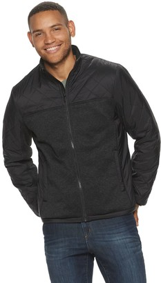 Apt. 9 Men's Quilted Sherpa Lined Full Zip Jacket