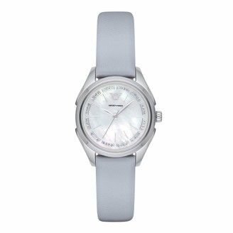 Emporio Armani Women's Valeria Stainless Steel Analog-Quartz Watch with Leather Calfskin Strap