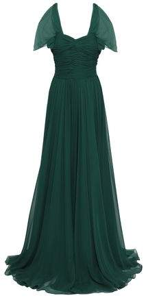 Jason Wu Ruched Gathred Silk-georgette Gown