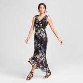 Spenser Jeremy Women's Floral Printed Faux Wrap Ruffle Maxi Dress