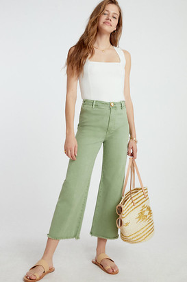 Pilcro And The Letterpress Pilcro Ultra High-Rise Cropped Wide-Leg Jeans By in White Size 25