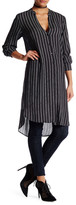 Astr Long Sleeve Striped Tunic