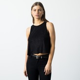 DSTLD Micro Suede Tank in Black
