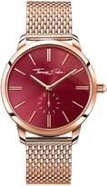 Thomas Sabo Glam Spirit Red Dial Rose Tone Mesh Bracelet Ladies Watch