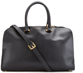 Lulu Guinness Women's Vivienne Medium Smooth Leather Tote Bag Black
