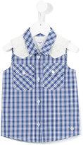 Parrot Kids - checked sleeveless shirt - kids - Cotton/Polyester - 6 yrs