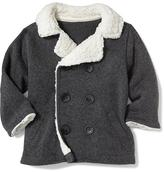 Old Navy Sherpa-Collar Fleece Peacoat for Baby