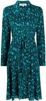 Diane von Furstenberg animal-print shirt dress