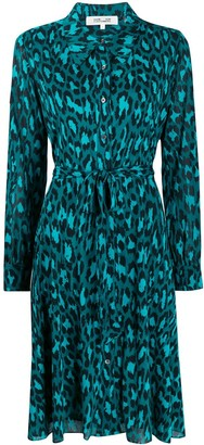 Diane von Furstenberg Animal-Print Shirt Dress