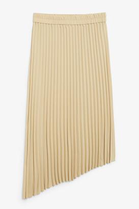 Monki A-symmetric pleated skirt