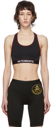 Vetements Black Russian Police Sports Bra