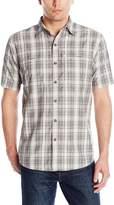 G.H. Bass Men's Short Sleeve Fancy Explorer Plaid Shirt