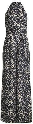 Rebecca Vallance Lola Leopard & Zebra Print Jumpsuit