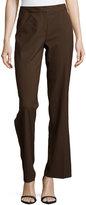 Lafayette 148 New York Classic Contemporary Stretch-Knit Pants, Espresso