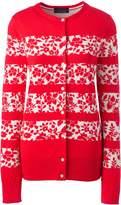 Lands'end Women's Plus Size Supima Cotton Jacquard Cardigan Sweater