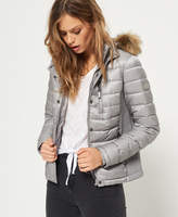 Superdry Luxe Fuji Double Zip Hooded Jacket