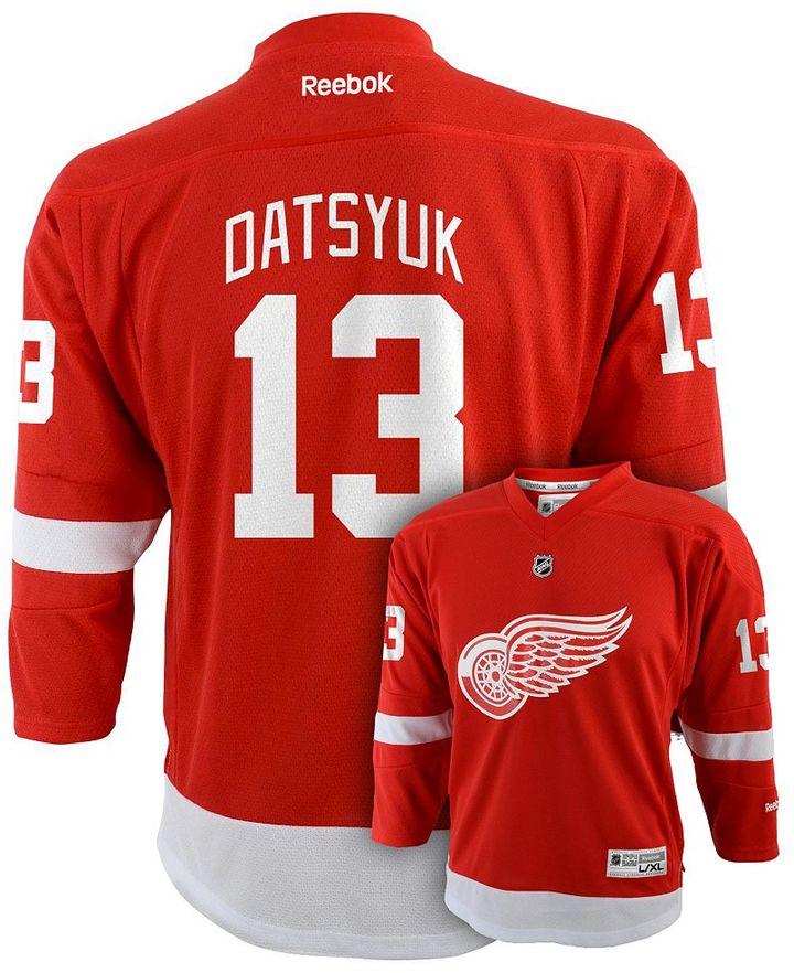 Reebok Boys 8-20 Detroit Red Wings Pavel Datsyuk NHL Jersey