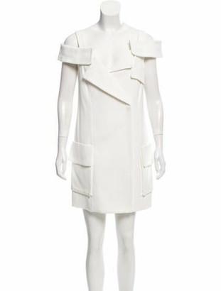 Monse Cold-Shoulder Moto Dress w/ Tags White
