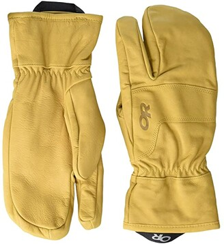 Outdoor Research Aksel 3 Finger Work Gloves (Natural) Extreme Cold Weather Gloves