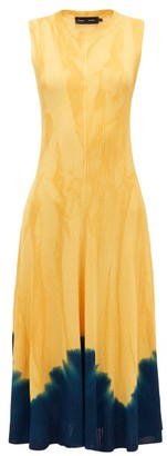 Proenza Schouler Knotted Tie-dye Dress - Womens - Yellow Print