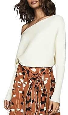 Reiss Lorna Off-the-Shoulder Draped Sweater