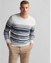 Express striped crew neck sweater