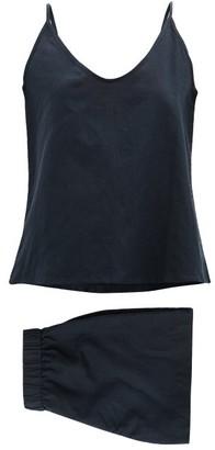 General Sleep - Summer Organic Cotton-blend Pyjama Set - Navy