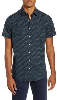 Rodd & Gunn Bayview Road Regular Fit Floral Short Sleeve Button-Up Shirt