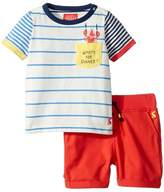 Joules Kids What's For Dinner Woven Shorts Set Boy's Active Sets