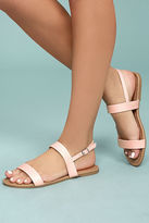 Qupid Savannah Blush Flat Sandals