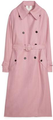 Arket Linen Blend Trench Coat