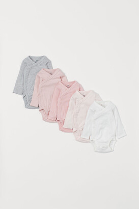 H&M 5-Pack Wrapover Bodysuits