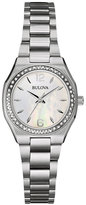 Bulova 26mm Bracelet Watch w/ Diamond Bezel & Iridescent Dial