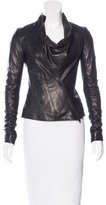 Jitrois Leather Asymmetrical Jacket