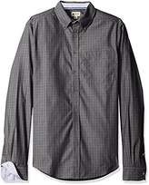 Haggar Men's Big and Tall Long Sleeve Mini-Windowpane Woven Shirt