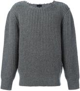 Lanvin military stitch crew neck - men - Wool - S