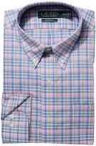 Lauren Ralph Lauren Classic Fit No-Iron Cotton Dress Shirt Men's Long Sleeve Button Up
