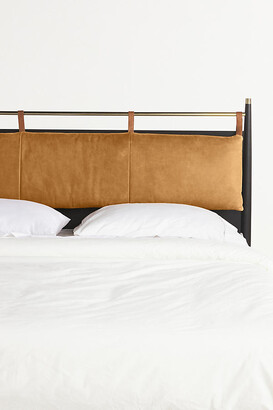 Anthropologie Hemming Leather Headboard Cushion By in Gold