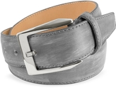 Pakerson Men's Gray Hand Painted Italian Leather Belt